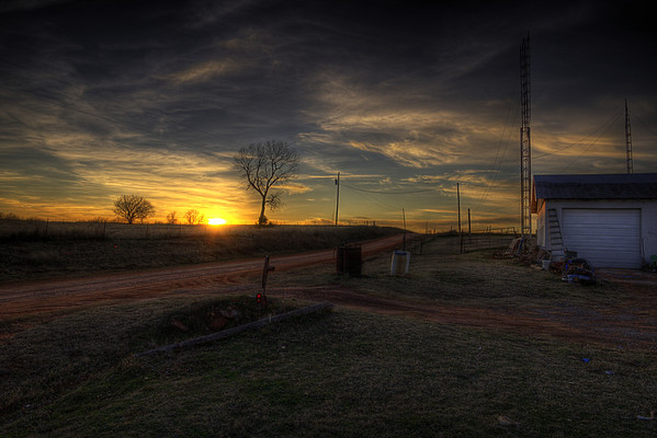 Midway Station Sunset, Oklahoma